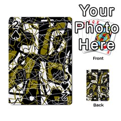 Brown abstract art Playing Cards 54 Designs