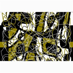 Brown abstract art Collage Prints