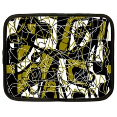 Brown abstract art Netbook Case (XL)