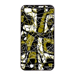 Brown abstract art Apple iPhone 4/4s Seamless Case (Black)