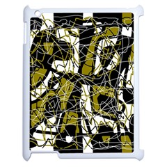 Brown abstract art Apple iPad 2 Case (White)