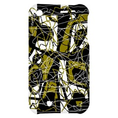 Brown abstract art Apple iPhone 3G/3GS Hardshell Case