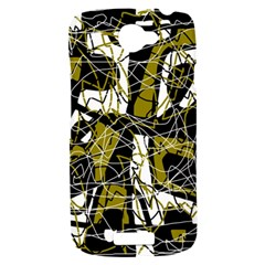 Brown abstract art HTC One S Hardshell Case