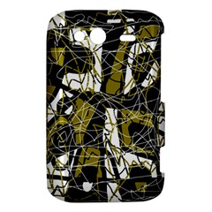 Brown abstract art HTC Wildfire S A510e Hardshell Case