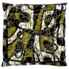 Brown abstract art Large Cushion Case (Two Sides)