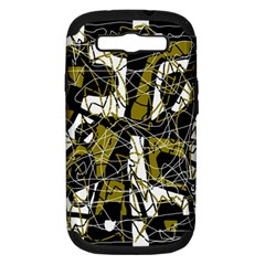 Brown abstract art Samsung Galaxy S III Hardshell Case (PC+Silicone)