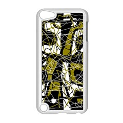 Brown abstract art Apple iPod Touch 5 Case (White)