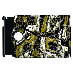 Brown abstract art Apple iPad 2 Flip 360 Case