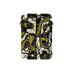 Brown abstract art Apple iPad Mini Protective Soft Cases