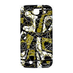Brown abstract art Samsung Galaxy S4 I9500/I9505  Hardshell Back Case