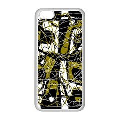 Brown abstract art Apple iPhone 5C Seamless Case (White)