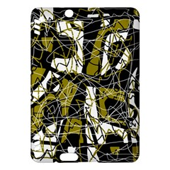 Brown abstract art Kindle Fire HDX Hardshell Case