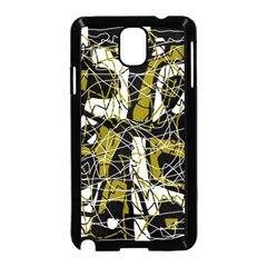 Brown abstract art Samsung Galaxy Note 3 Neo Hardshell Case (Black)