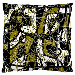 Brown abstract art Large Flano Cushion Case (Two Sides)