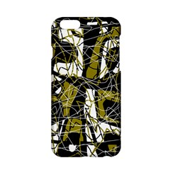 Brown abstract art Apple iPhone 6/6S Hardshell Case