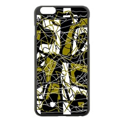 Brown abstract art Apple iPhone 6 Plus/6S Plus Black Enamel Case
