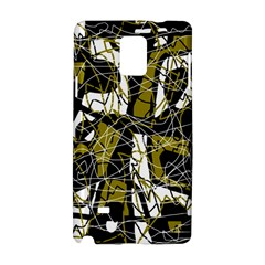Brown abstract art Samsung Galaxy Note 4 Hardshell Case
