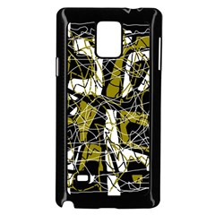 Brown abstract art Samsung Galaxy Note 4 Case (Black)
