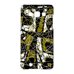 Brown abstract art Samsung Galaxy A5 Hardshell Case