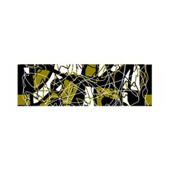 Brown abstract art Satin Scarf (Oblong)