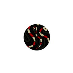 Red snakes 1  Mini Buttons