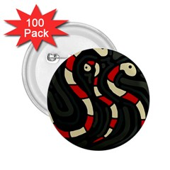 Red snakes 2.25  Buttons (100 pack)