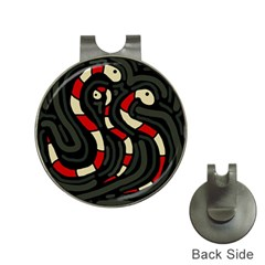 Red snakes Hat Clips with Golf Markers