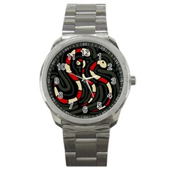 Red snakes Sport Metal Watch