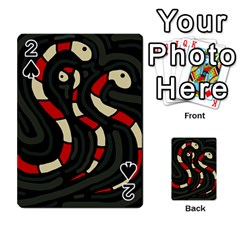 Red snakes Playing Cards 54 Designs