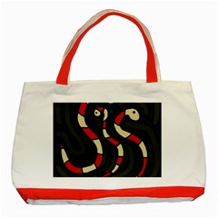 Red snakes Classic Tote Bag (Red)