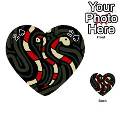 Red snakes Playing Cards 54 (Heart)