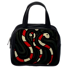 Red snakes Classic Handbags (One Side)