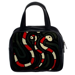 Red snakes Classic Handbags (2 Sides)