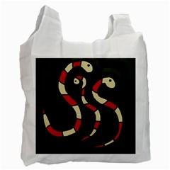 Red snakes Recycle Bag (One Side)