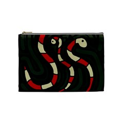 Red snakes Cosmetic Bag (Medium)