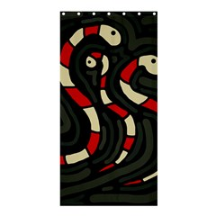 Red snakes Shower Curtain 36  x 72  (Stall)