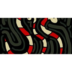 Red snakes YOU ARE INVITED 3D Greeting Card (8x4)