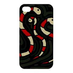 Red snakes Apple iPhone 4/4S Hardshell Case