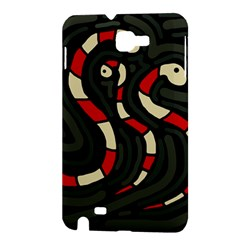 Red snakes Samsung Galaxy Note 1 Hardshell Case
