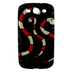 Red snakes Samsung Galaxy S III Hardshell Case