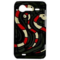 Red snakes HTC Incredible S Hardshell Case
