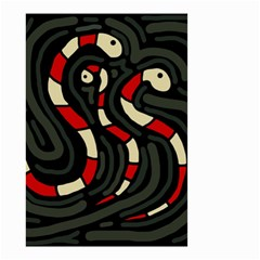 Red snakes Small Garden Flag (Two Sides)