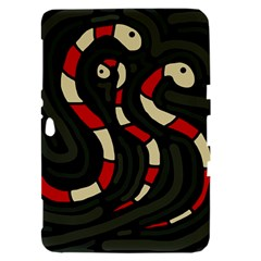 Red snakes Samsung Galaxy Tab 8.9  P7300 Hardshell Case
