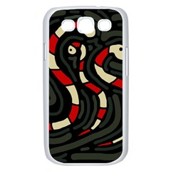Red snakes Samsung Galaxy S III Case (White)