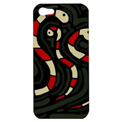 Red snakes Apple iPhone 5 Hardshell Case