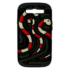 Red snakes Samsung Galaxy S III Hardshell Case (PC+Silicone)