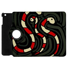Red snakes Apple iPad Mini Flip 360 Case