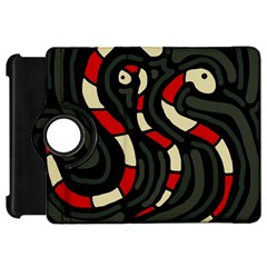 Red snakes Kindle Fire HD Flip 360 Case