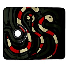 Red snakes Samsung Galaxy Note II Flip 360 Case