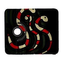 Red snakes Samsung Galaxy S  III Flip 360 Case